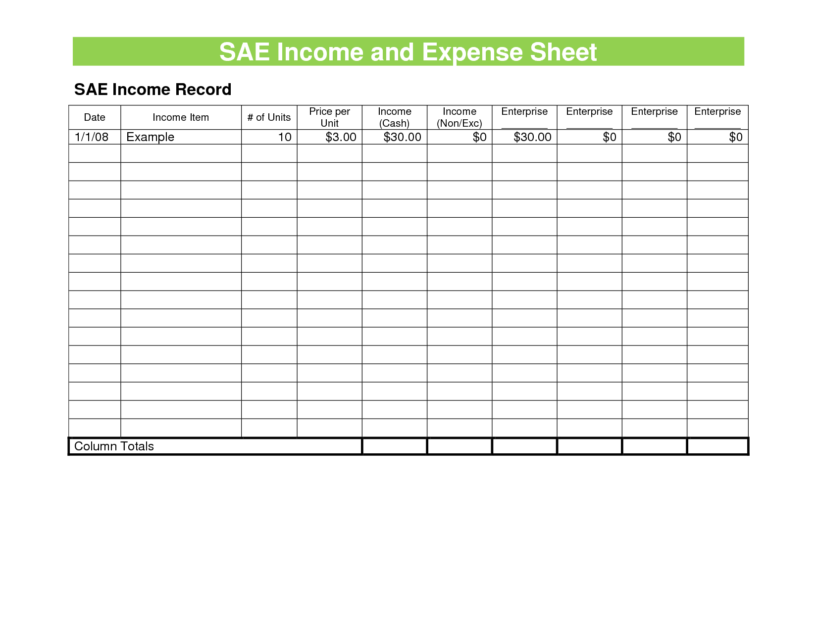 Sample Of Expenses Sheet and Expense Sheet Template Helloalive