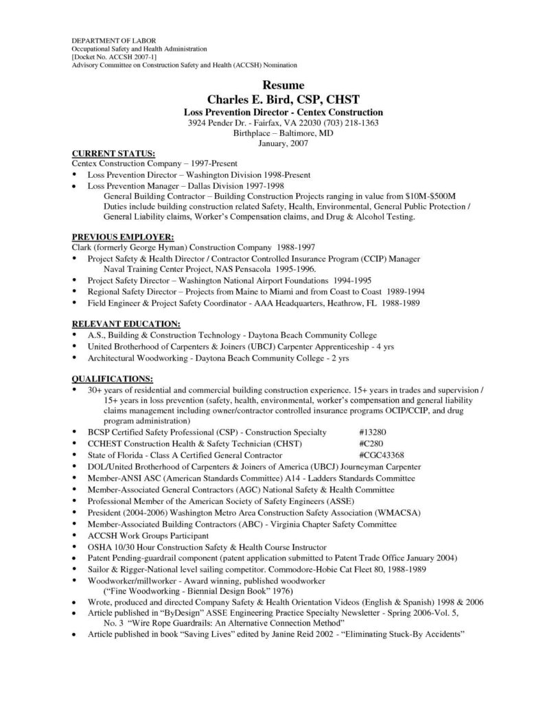 Sample Project Report On Building Construction and Apprentice Carpenter Resume Sample Construction Laborer Resume