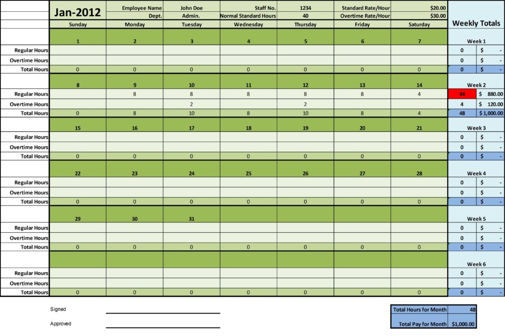 Sample Time Sheets to Print and You Manage and Keep Track Of Your Costs Profits and Worked Time