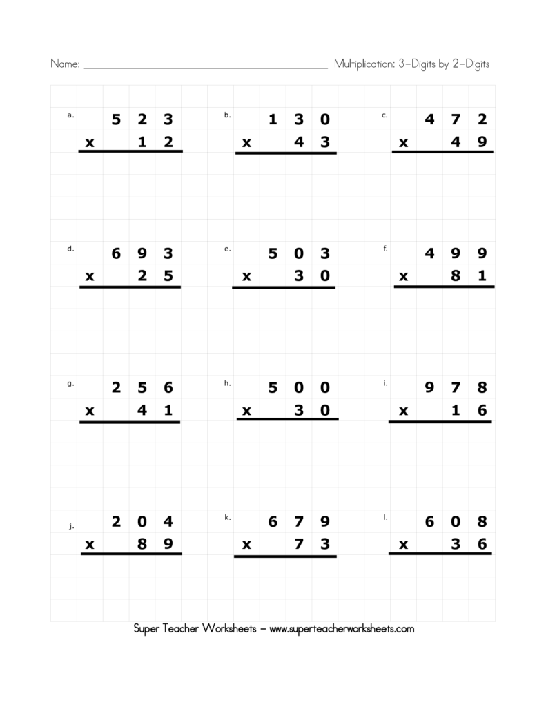 Saxon Math Grade 4 Worksheets and Multiplication Facts to
