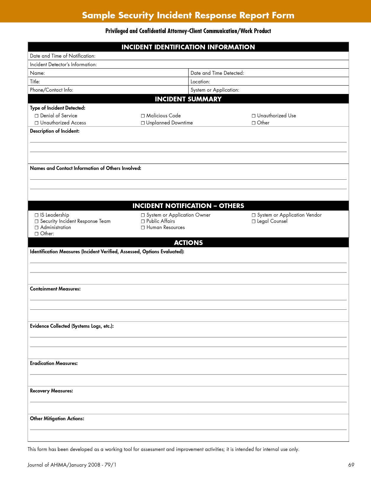 Security Incident Report Template Pdf and Best Photos Of Security Incident Report Template Security