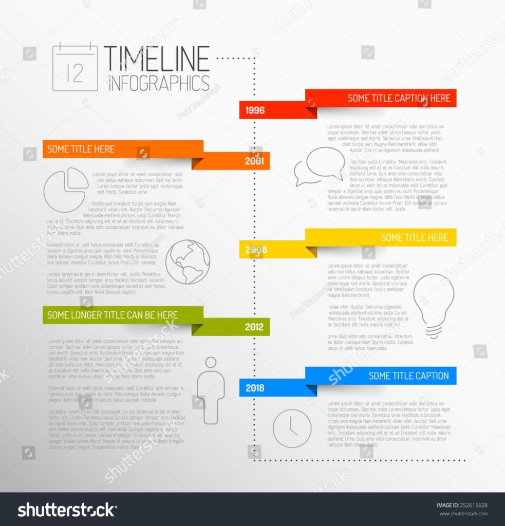Sem Report Template and Vector Infographic Timeline Report Template Icons Stock Vector