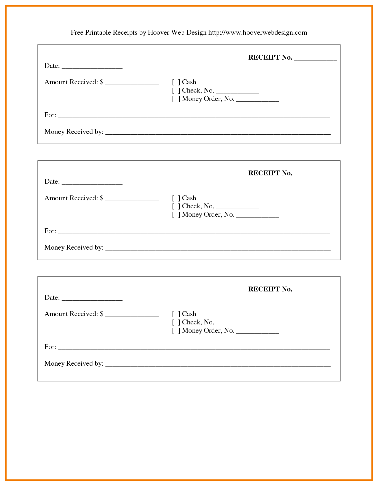 Simple Expense Report Template and Blank Receipt Example Masir