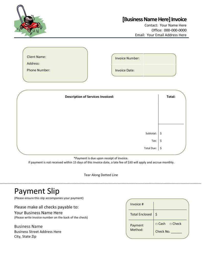 Simple Invoices Templates and Invoice Template Gardening Firmsinjafo