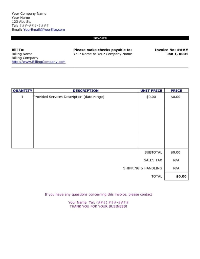 Simple Invoices Templates and Simple Invoice Template Free to Do List