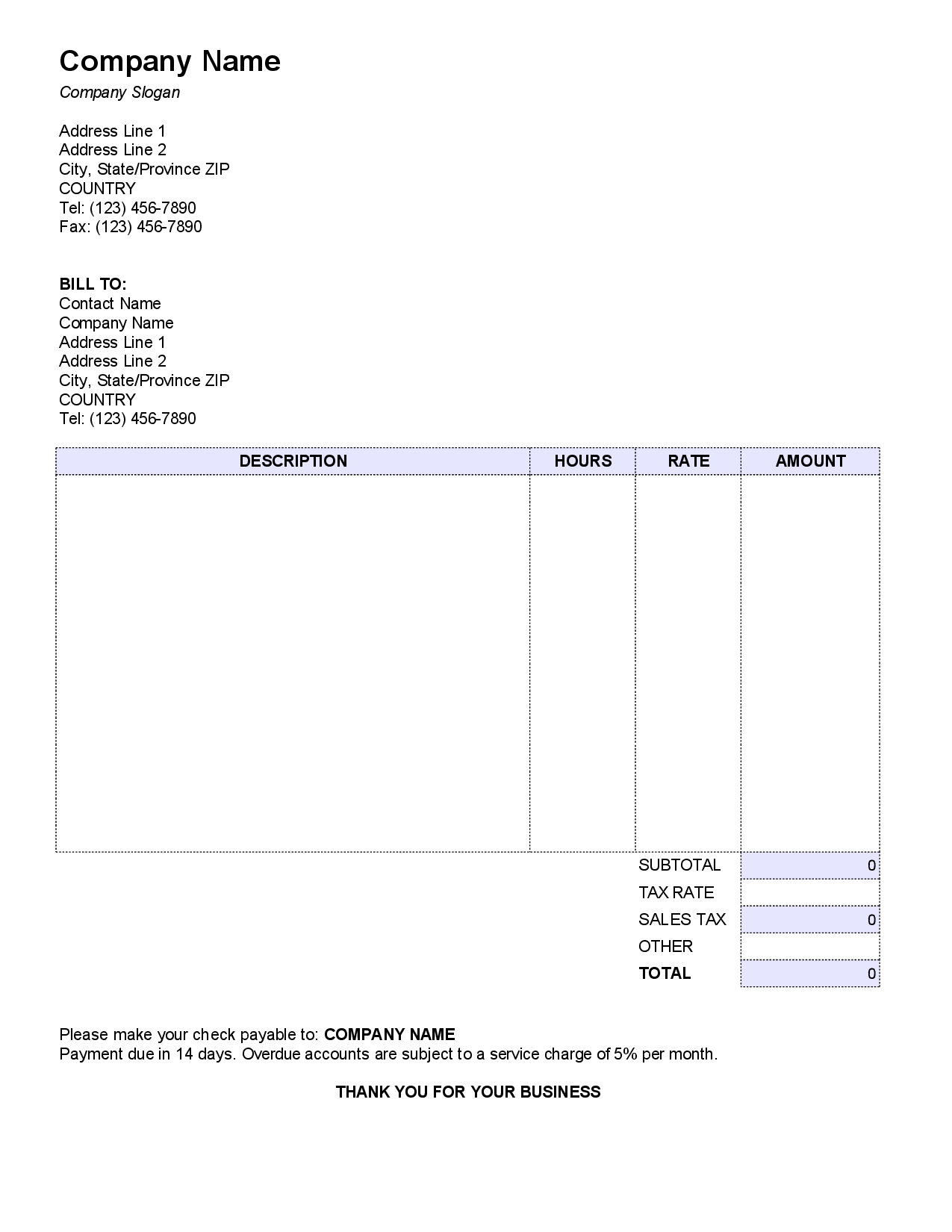 Small Business Invoice Template Free and Invoices for Small Business Resume Templates