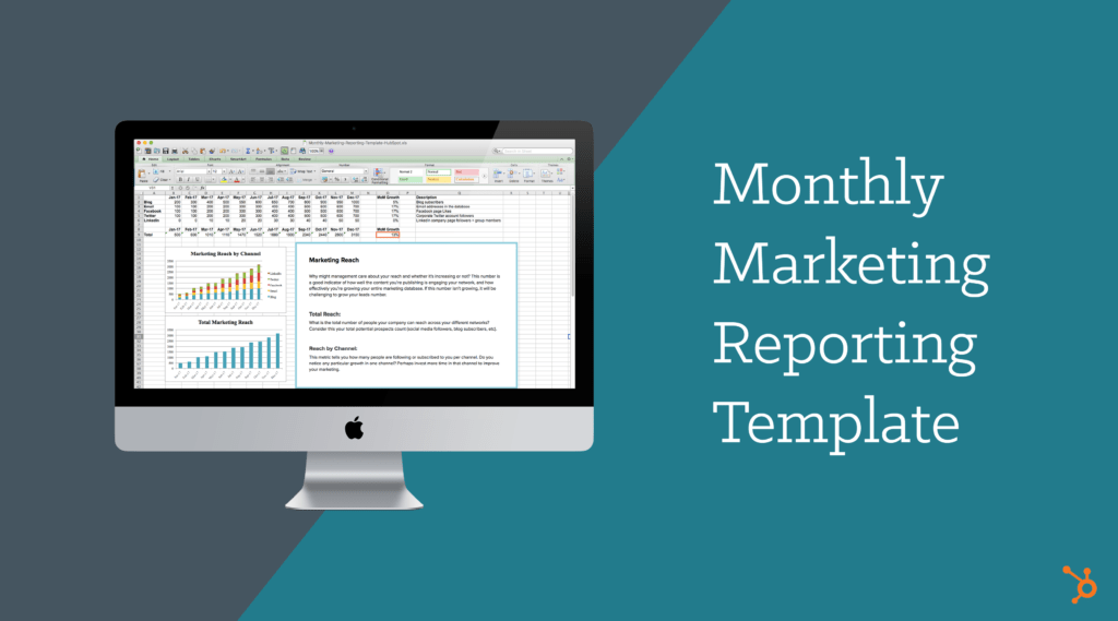 Social Media Monthly Report Template and Monthly Marketing Reporting Template Free