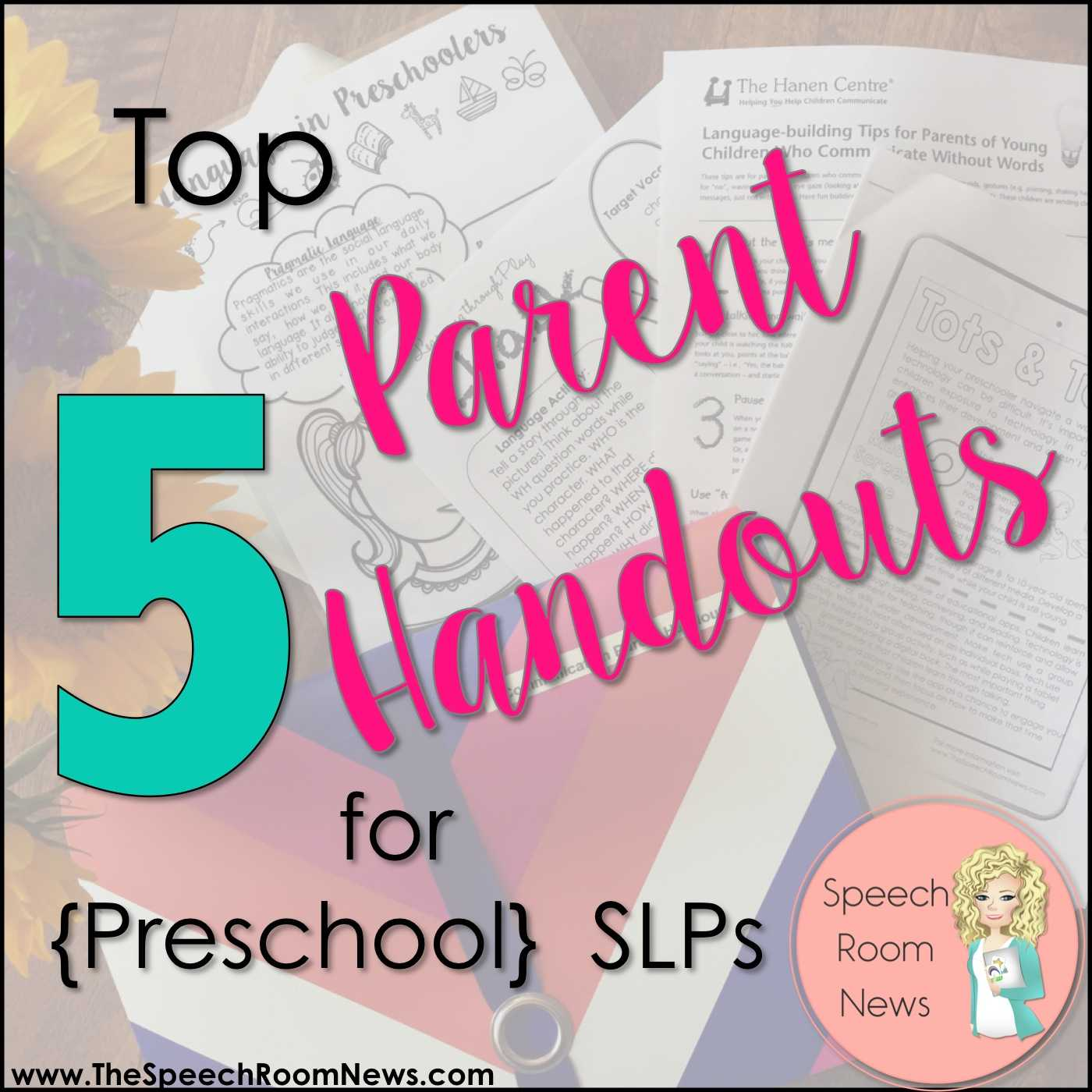 Speech therapy Worksheets for Preschoolers and top 5 Parent Handouts for Preschool Slps Speech Room News
