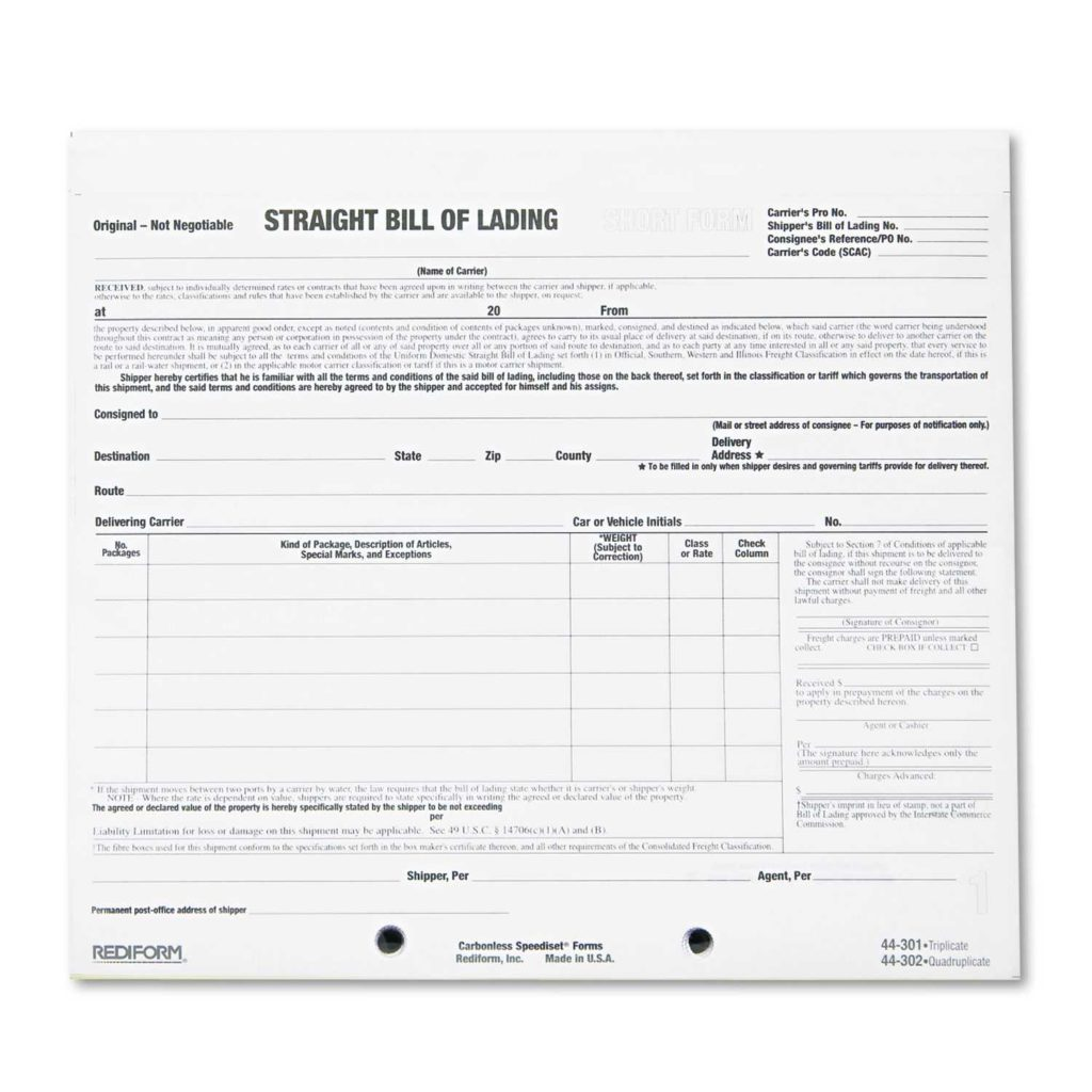 Straight Bill Of Lading Short form Template Free and 10 Best Images Of Bill Of Lading Short form Pdf Straight Bill Of