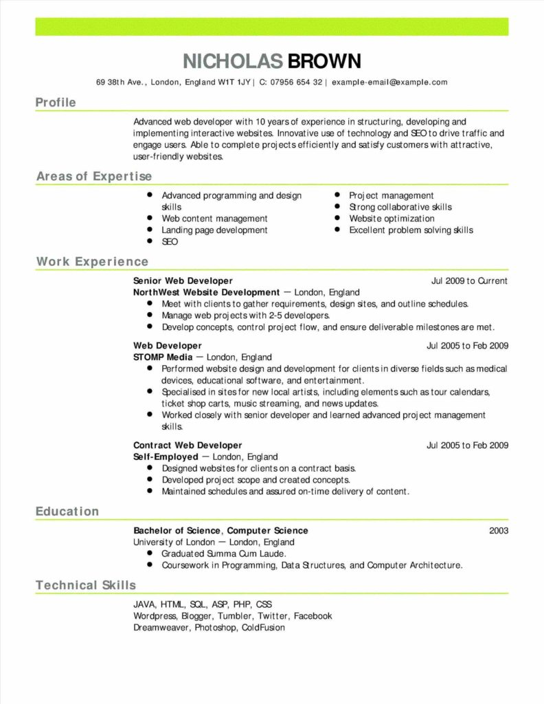 Student Congress Bill Template and Sample Academic Resume Sample Resume123