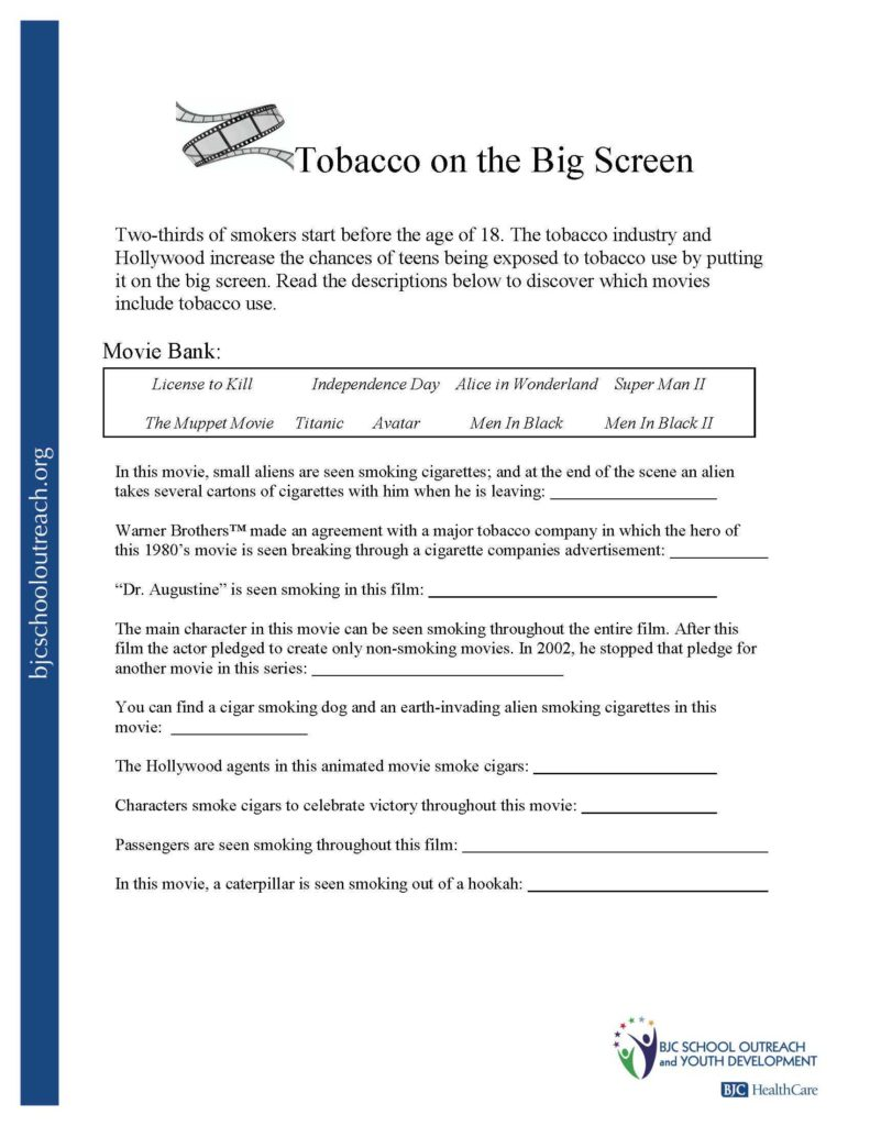 Substance Abuse Worksheets for Teenagers and Printable Worksheets