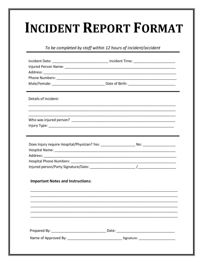 Technology Incident Report Template and Incident Report format Custom Paper Academic Writing Service