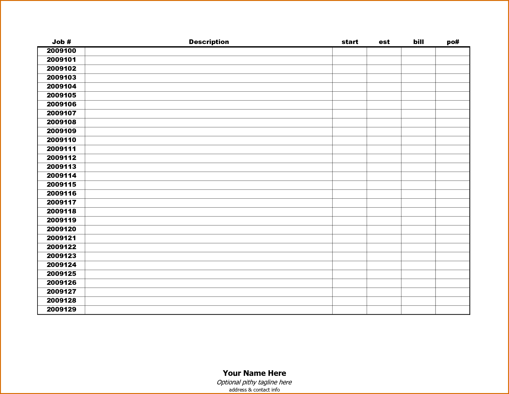 Template for Bills and 8 Bill Tracker Template Authorizationletters