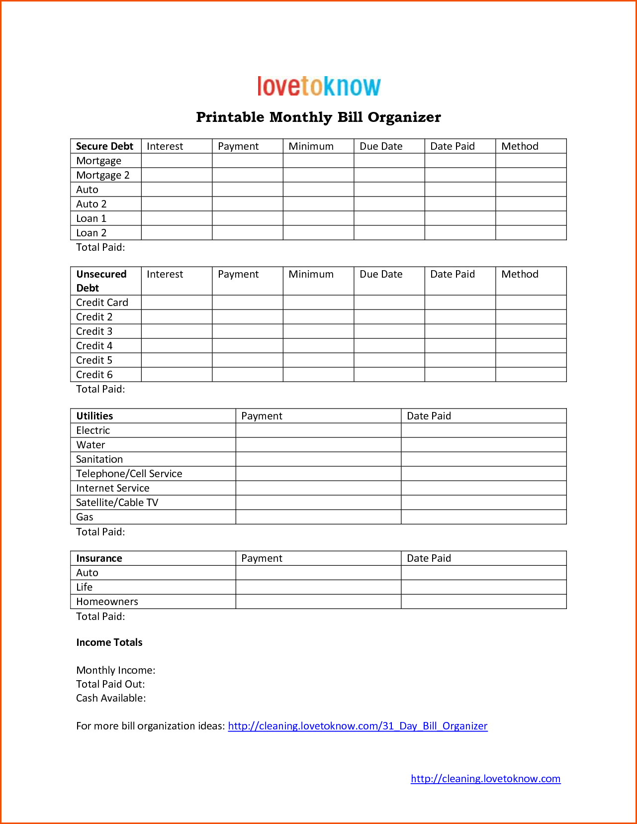 Template for Bills and Monthly Bill Templatememo Templates Word Memo Templates Word
