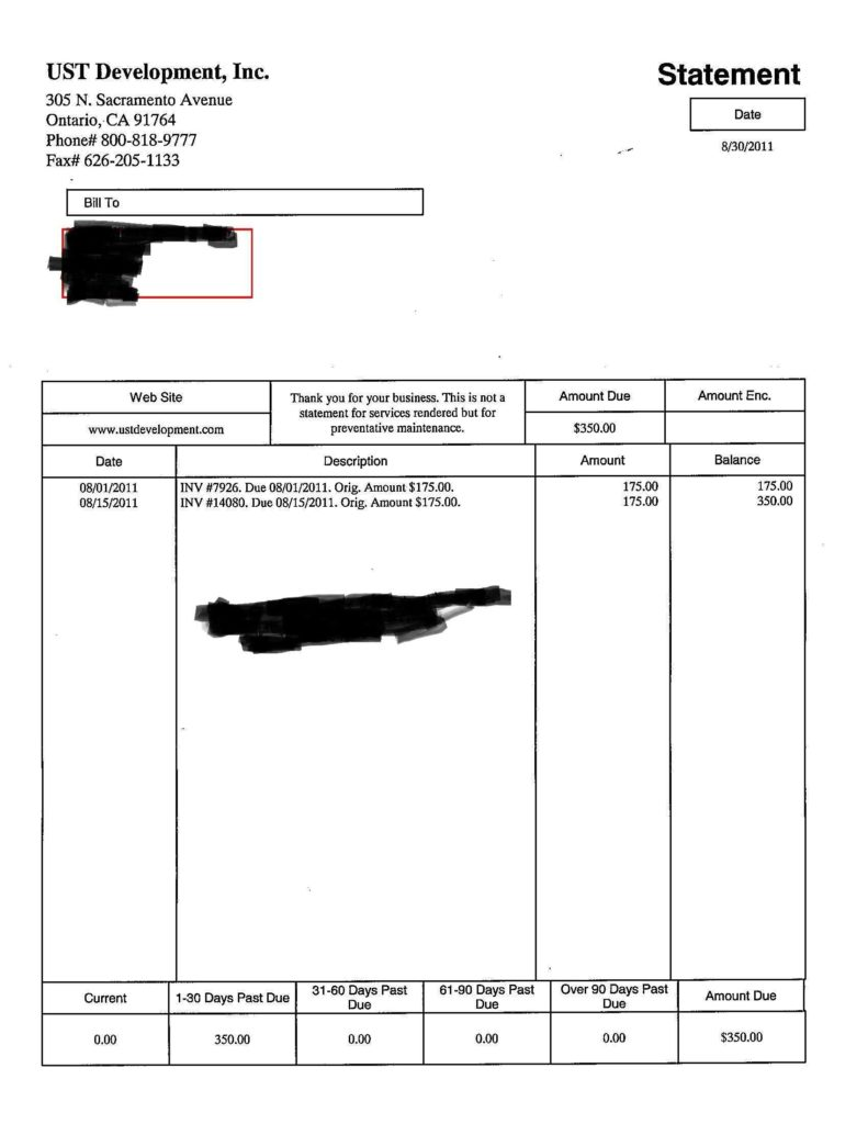 Template Of Invoice for Services Rendered and Bill Sample Doc Rabitah