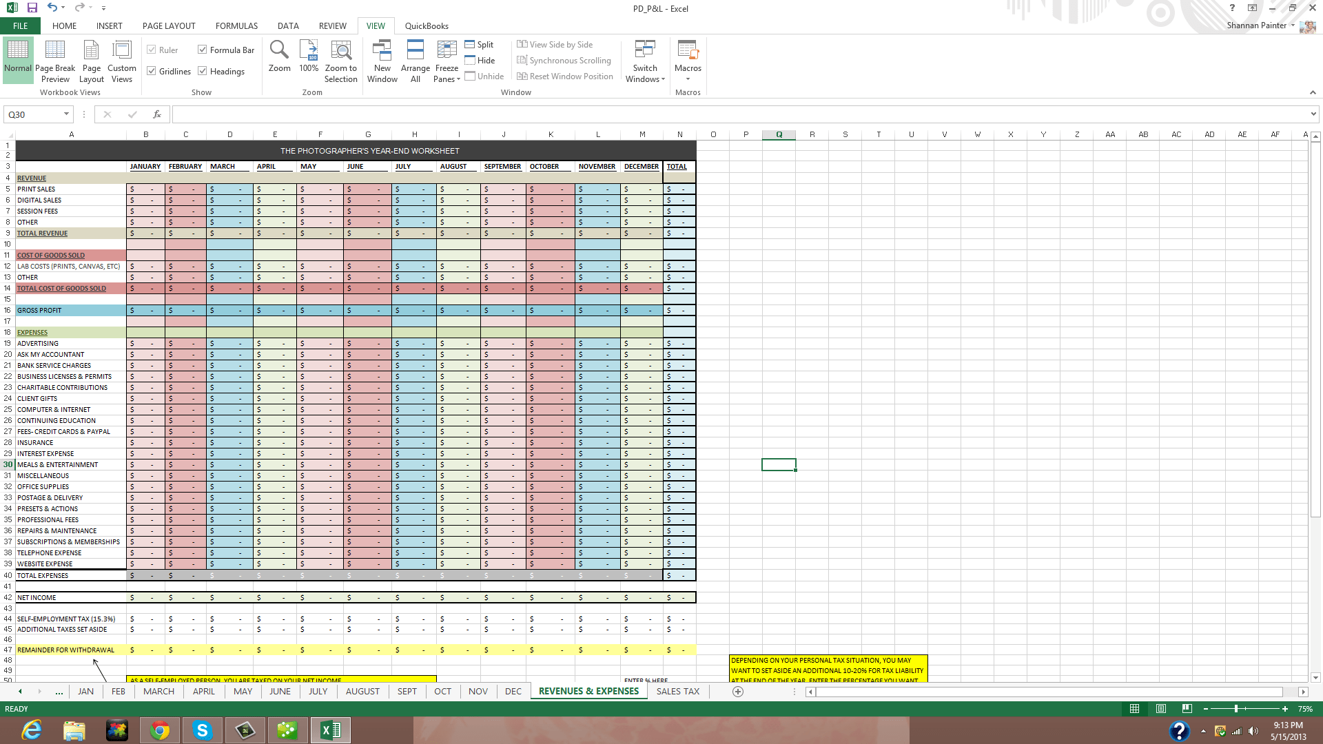 Track Expenses Spreadsheet and Client Tracking Spreadsheet Nbd