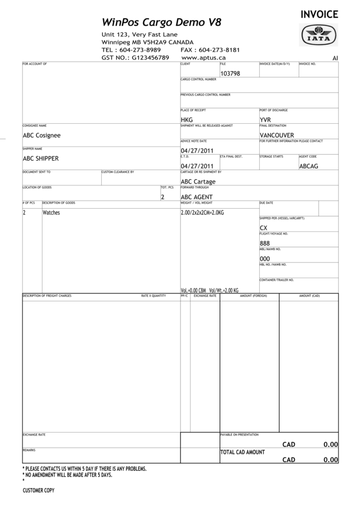 Trucking Bill Of Lading Template and Aptus Systems Inc