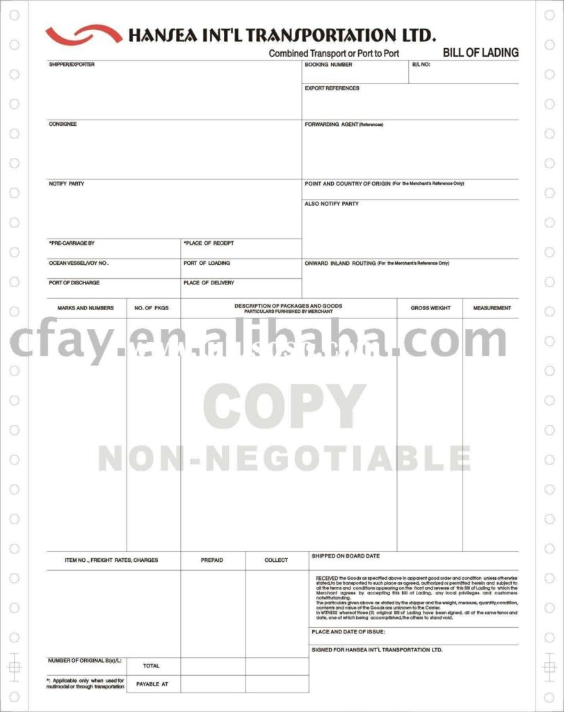Ups Bill Of Lading Template and Bill Of Lading for Ups Freight Bill Of Lading for Ups Freight