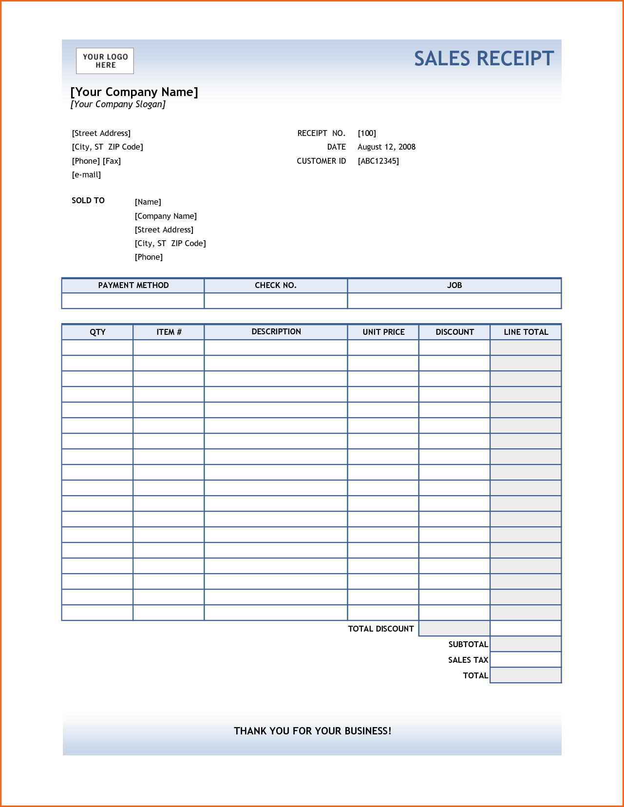 Used Car Invoice Template and 10 Sales Receipt Template Bud Template Letter