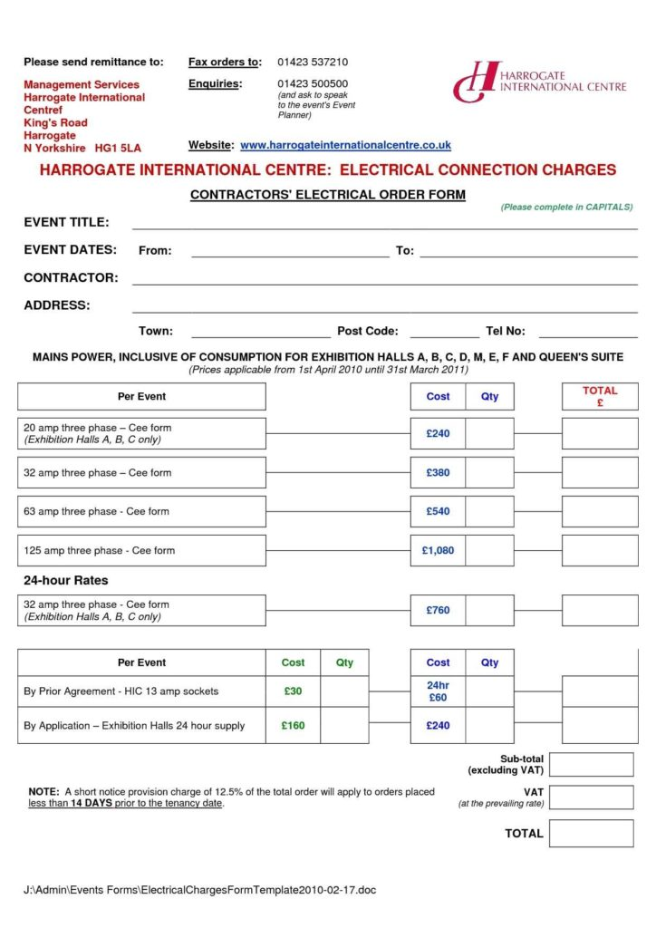 Utility Bill Template and 13 Free Electrical Invoice Templates Demplates