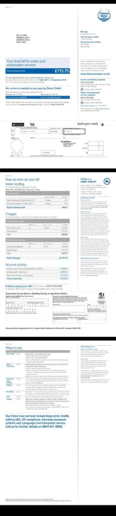 Utility Bill Template Uk and 27 Best Electricity Gas Bill Images On Pinterest Gas Bill