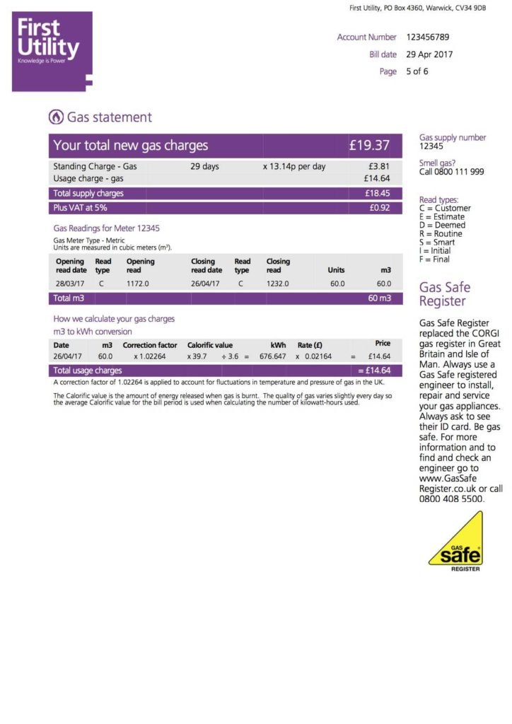 Water Bill Template and Understanding Your Home Energy Bill First Utility