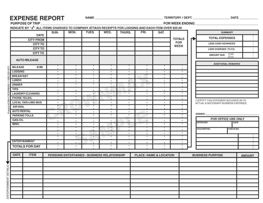 Weekly Expense Report Template and Travel Expense Report forms Selimtd