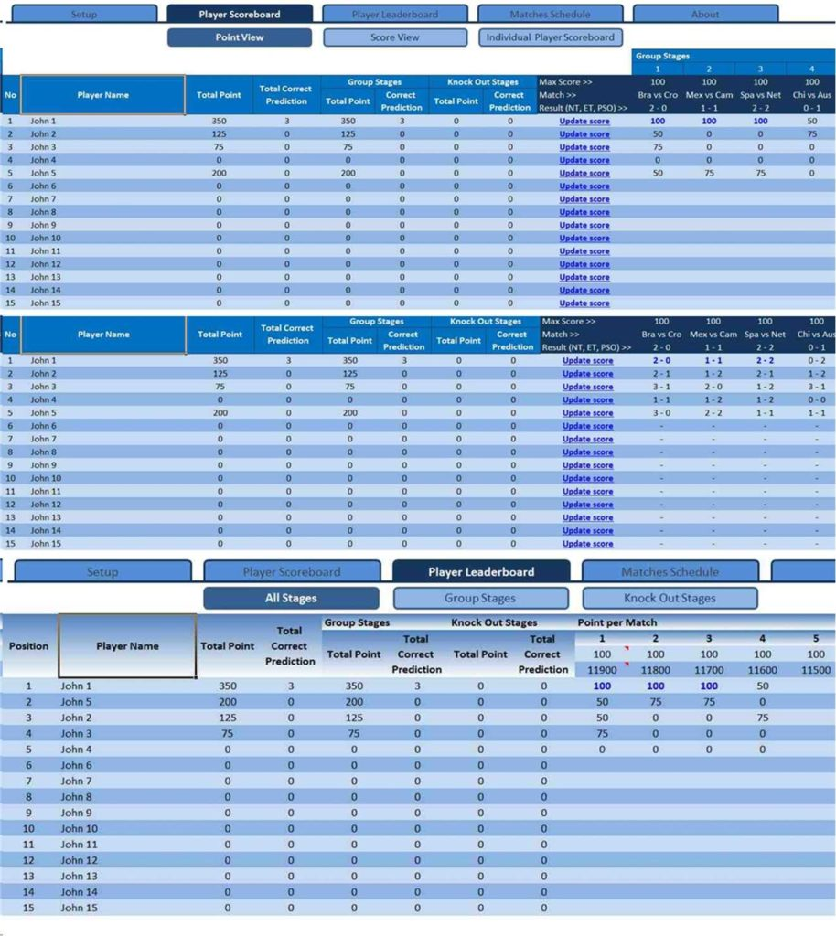 Weekly Football Pool Spreadsheet and World Cup 2014 Office Pool Excel Templates