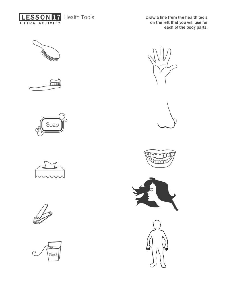 Worksheets On Health and Hygiene and Personal Hygiene Worksheets for Kids 1 Health Pinterest