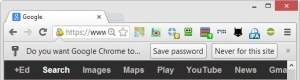 Saving passwords submitted by  jQuery $.post function