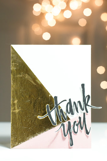 Colour Block Thank You Card by Taheerah Atchia
