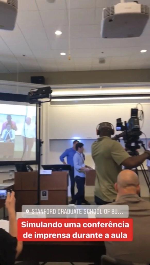 Aula sobre Gestão de Crise em Stanford