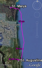 Map of Passage - St. Marys to St. Augustine