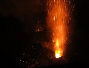 One of many eruptions