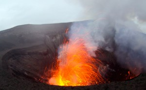 Mount Yasur Volcano Erupting