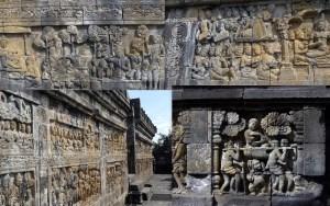 Borobudur bas-relief