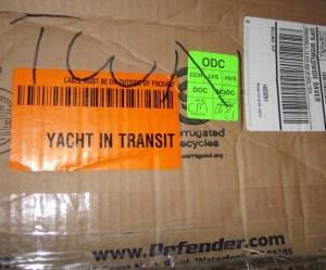 Yacht In Transit