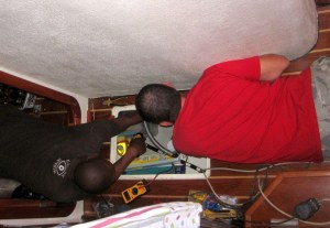 Workers in the bilge