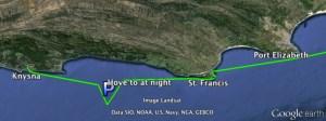 Our route to Knysna