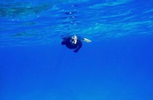 Karen snorkeling