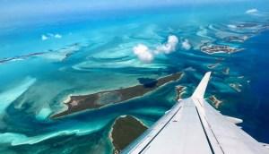 Flying into Bahamas