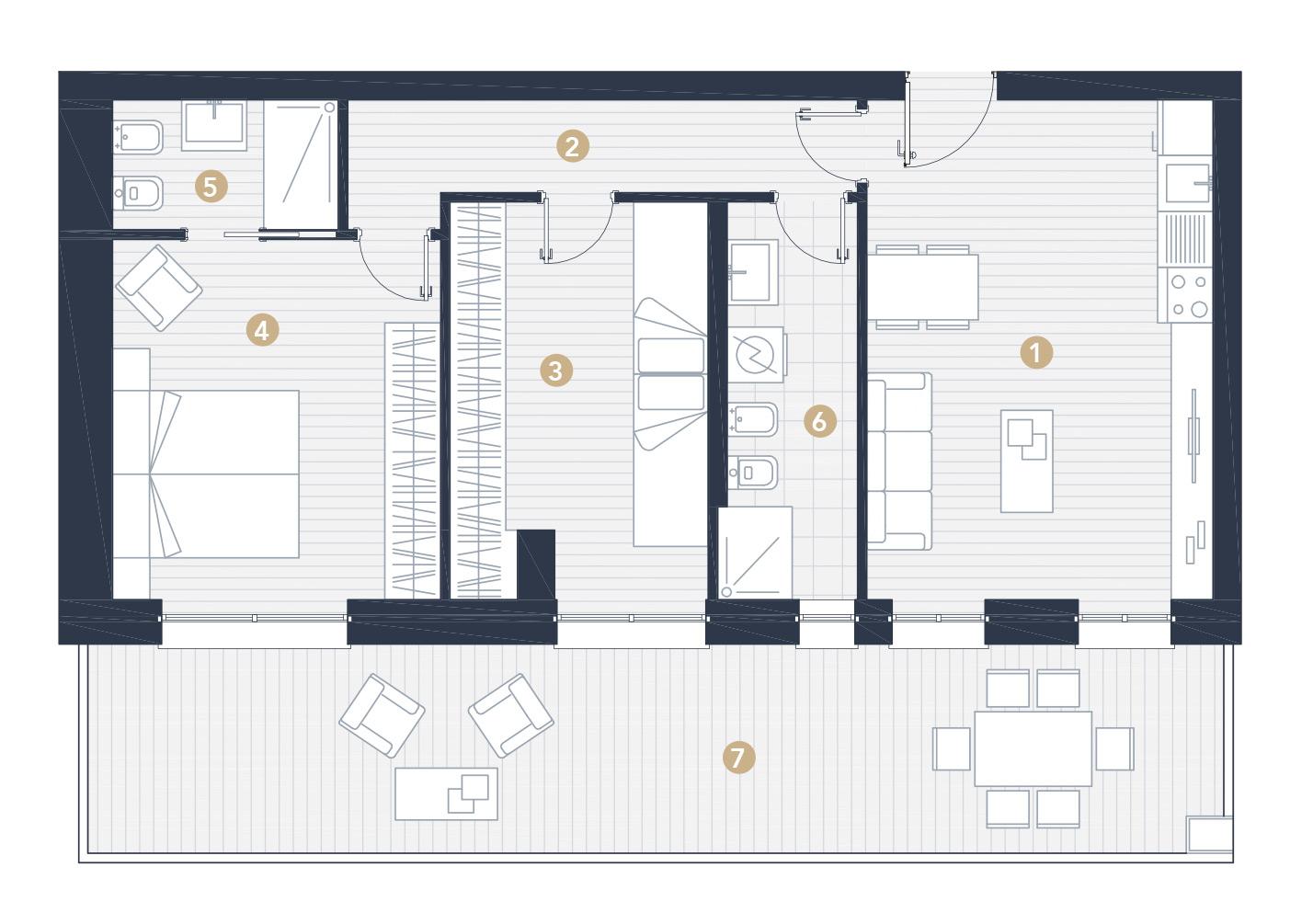 Mini Appartamento 75mq Jesolo Lido  D Type