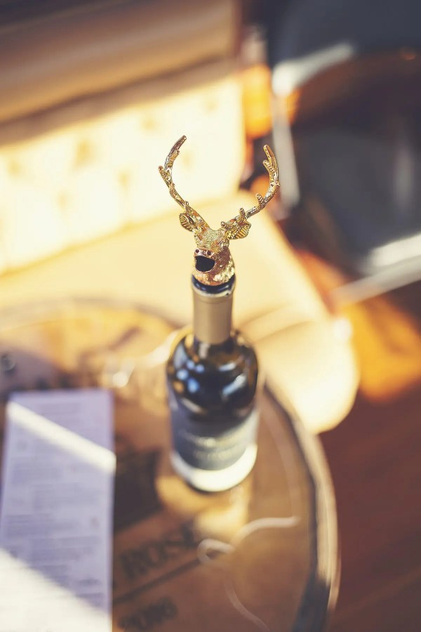 Gold Elk Animal Wine Aerator Pourer