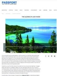 Passport Magazine The Glories of Lake Tahoe by Rich Rubin