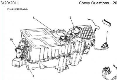 94 Chevy Silverado Blend Actuator Location