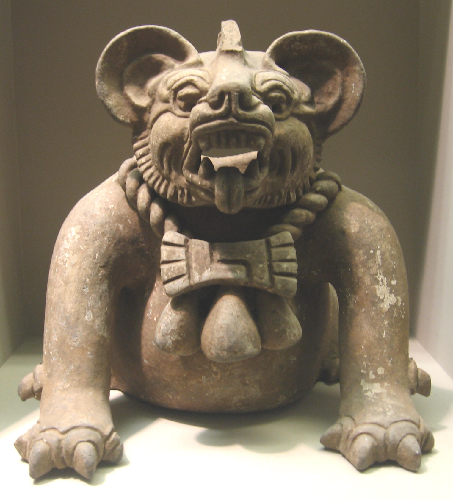Bat God, Funery Urn, Oaxaca, Mexico Period III