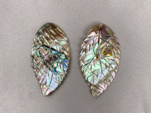 Apple Leaf Abalone Shell Loose Piece - Per Pair