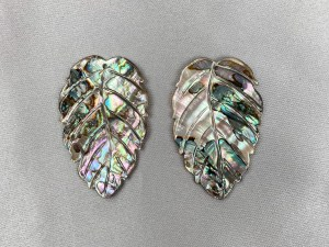 Beech Leaf Abalone Loose Piece - Per Pair
