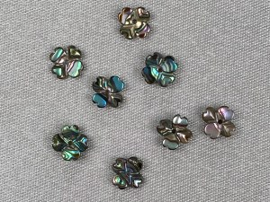 Carved Clover Abalone Loose Piece - 6 pcs