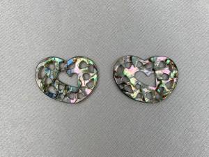 Filigree Irregular Heart Loose Piece - Per Pair